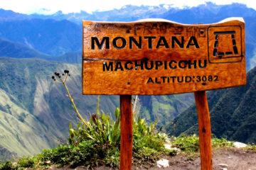 machu picchu con montaña